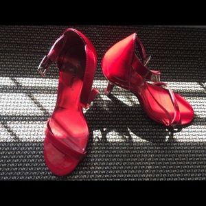 Pierre Dumas Margaret Red Patent Stiletto